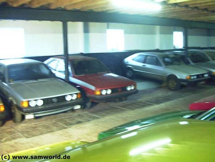 Meine alte VW Golf und Scirocco Sammlung - Halle 2